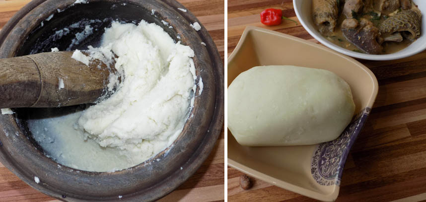 eat with pounded yam