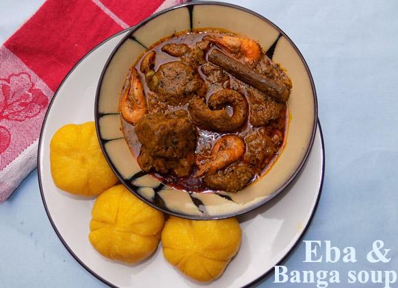 Eba and soup