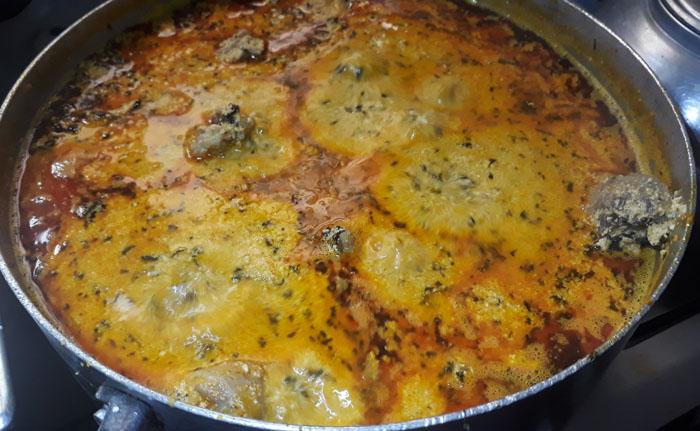 Pot of Egusi Soup